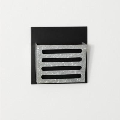 "Sullivans Single Wall File Pocket Organizer 12""H Silver"