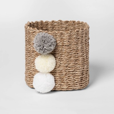 Small Paper Rope Decorative Basket Neutrals - Cloud Island™