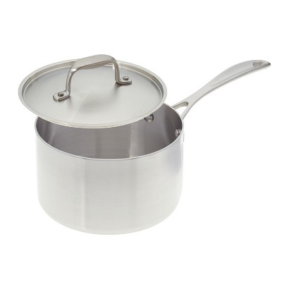 American Kitchen Cookware Premium Stainless Steel Covered 3 Quart Saucepan