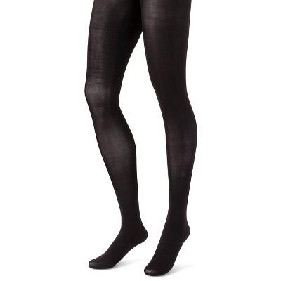 Hanes Premium Women's 2pk Opaque Tights - Black