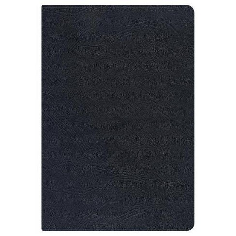 NKJV Large Print Personal Size Reference Bible, Black Genuine Leather - (Leather_bound) - image 1 of 1