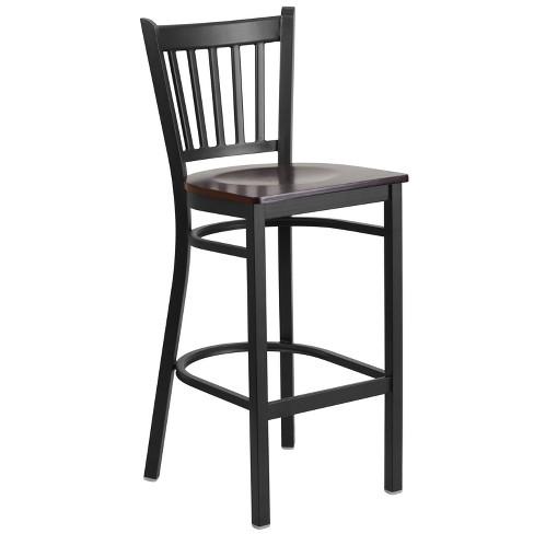 Flash Furniture Black Vertical Back Metal Restaurant Barstool - image 1 of 4