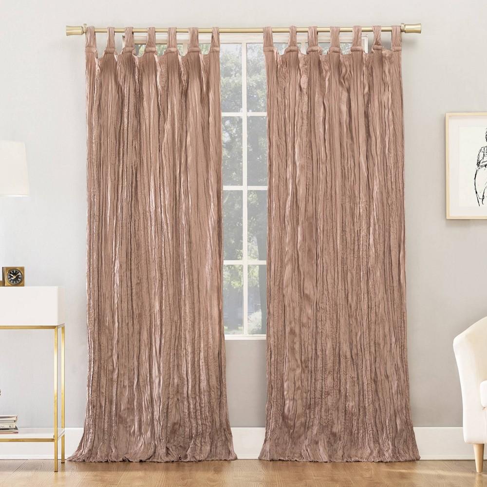 95 34 X50 34 Odelia Distressed Velvet Tab Top Light Filtering Curtain Panel Pink No 918