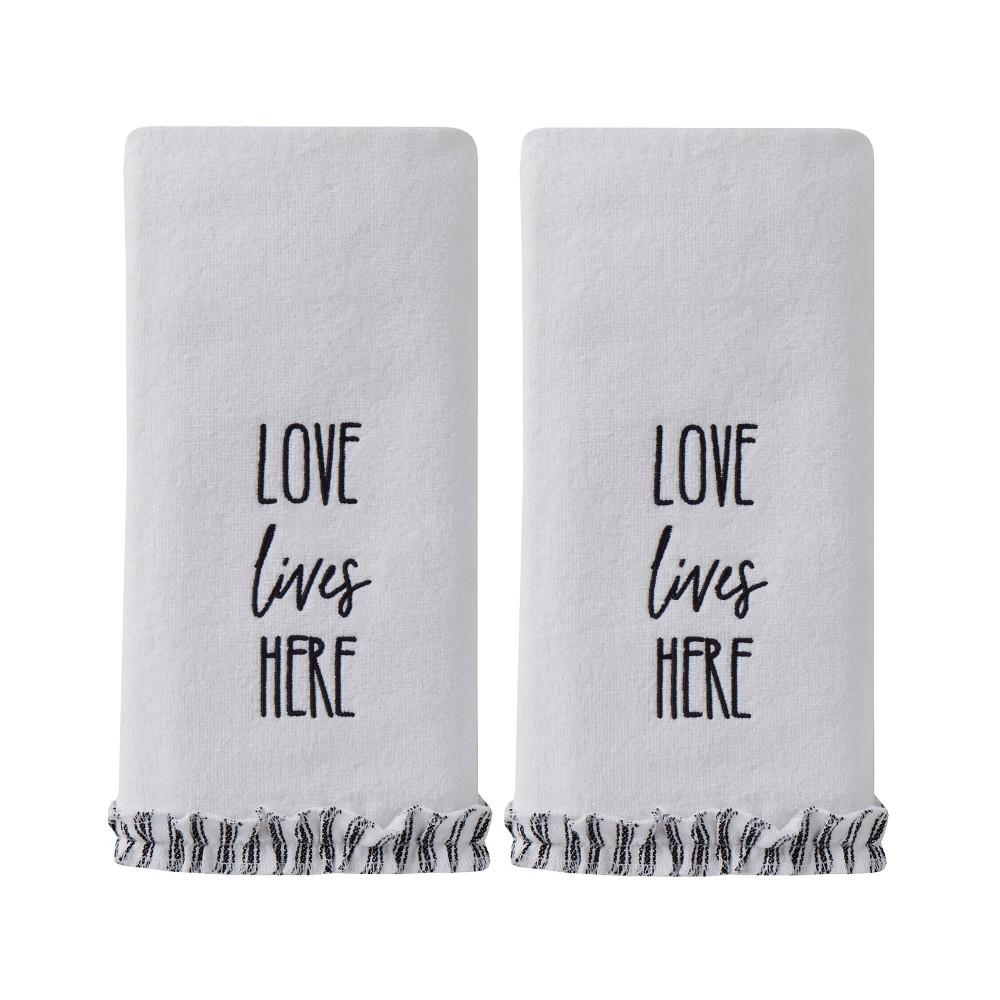 Image of 2pc Love Lives Here Hand Towel Natural - SKL Home, Beige