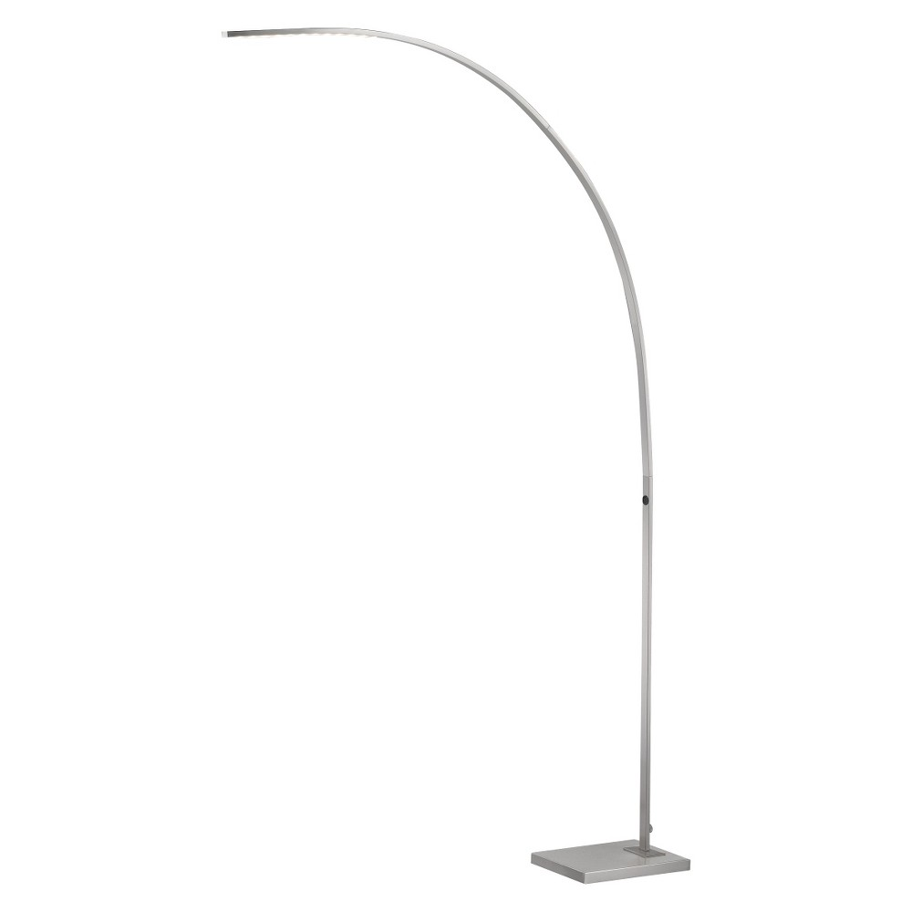 Image of Adesso Sonic LED Arc Lamp - Silver (Lamp Includes Energy Efficient Light Bulb)