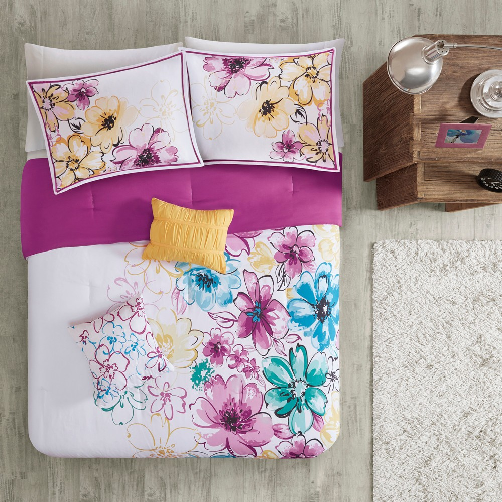 Pink Blue Skye Comforter Set Full Queen 5pc