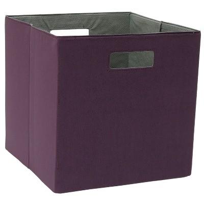 Cube Storage Bin Dark Purple - Threshold™