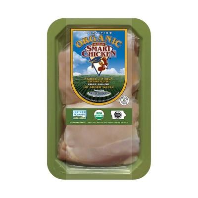 Smart Chicken Organic Boneless-Skinless Chicken Thighs - price per lb