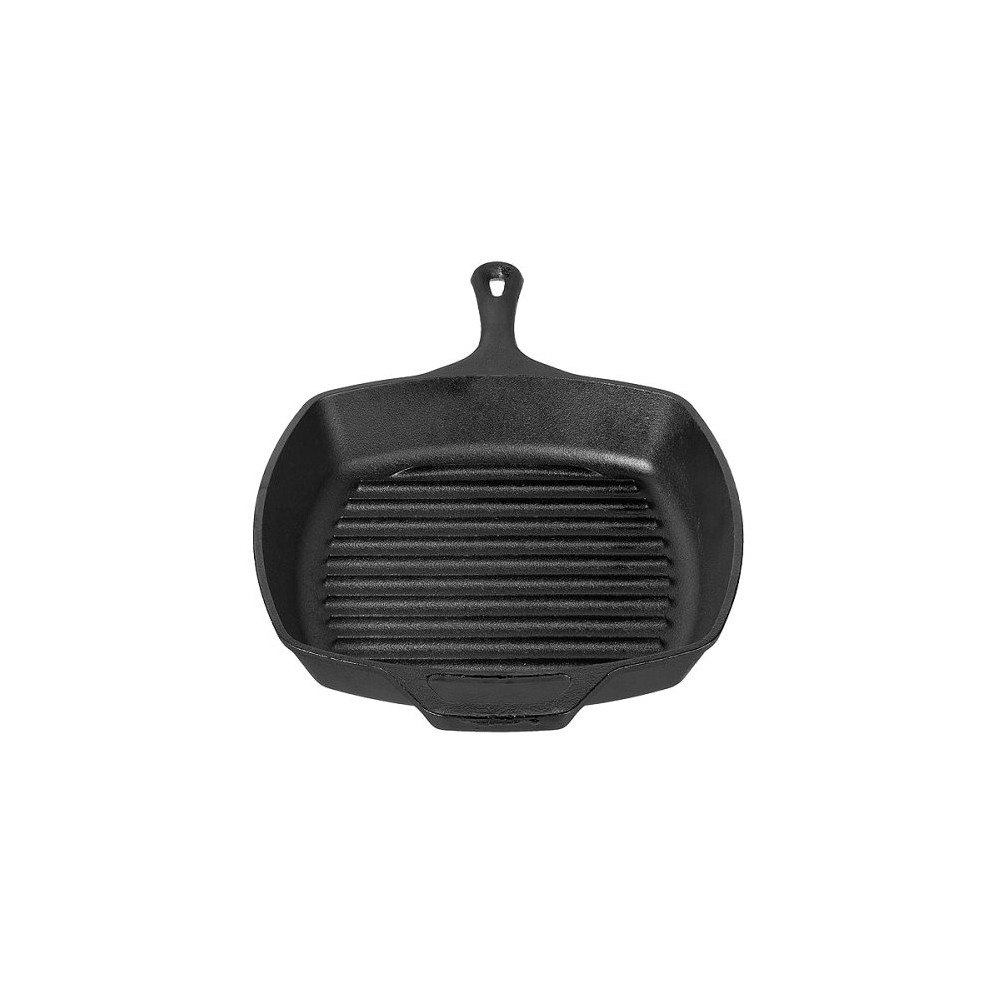 """Image of """"Lodge 10.5"""""""" Cast Iron Square Grill Pan, Black"""""""