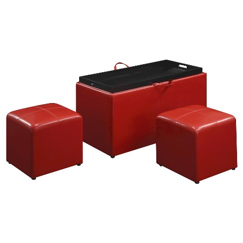 Super Designs4Comfort Sheridan Storage Ottoman Red Johar Furniture Machost Co Dining Chair Design Ideas Machostcouk