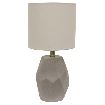 Jamison Cement Geo Table Lamp Gray - Decor Therapy