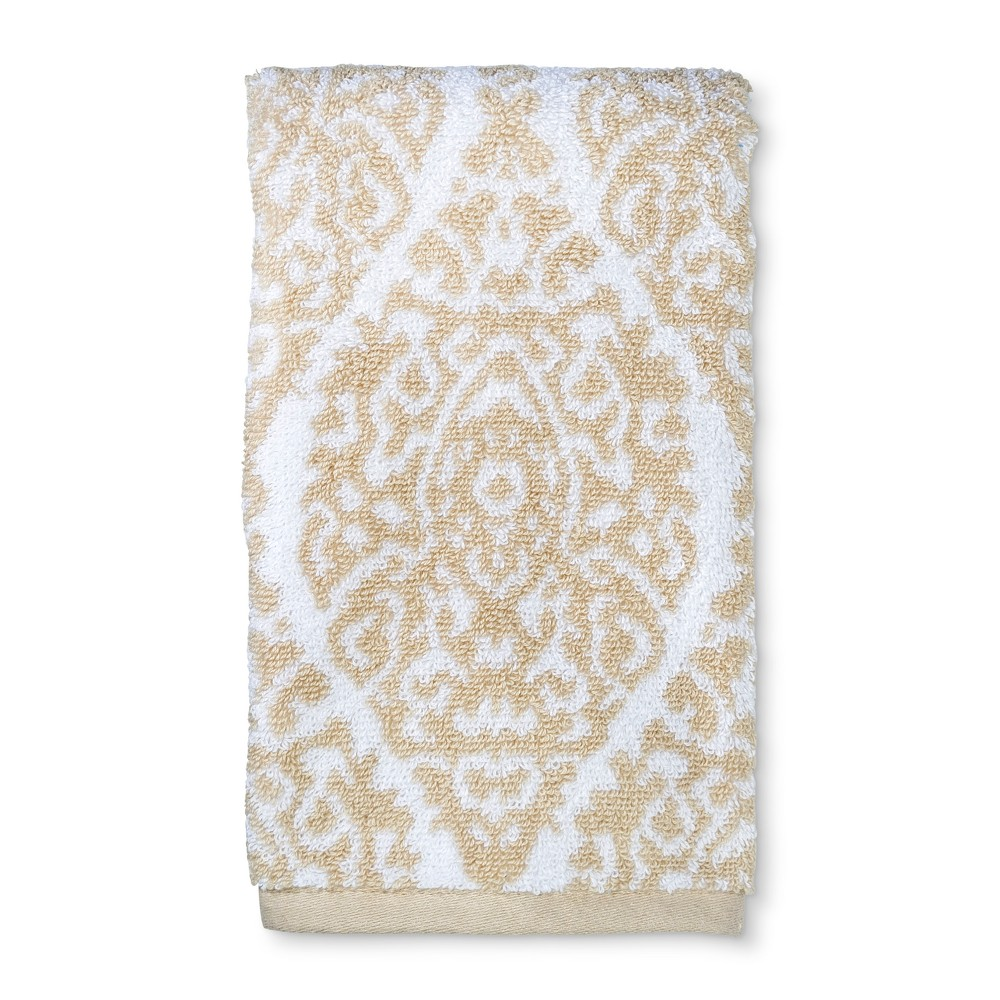 Performance Hand Towel Neutral Tan Ogee - Threshold