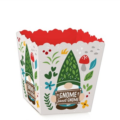 Big Dot of Happiness Garden Gnomes - Party Mini Favor Boxes - Forest Gnome Party Treat Candy Boxes - Set of 12