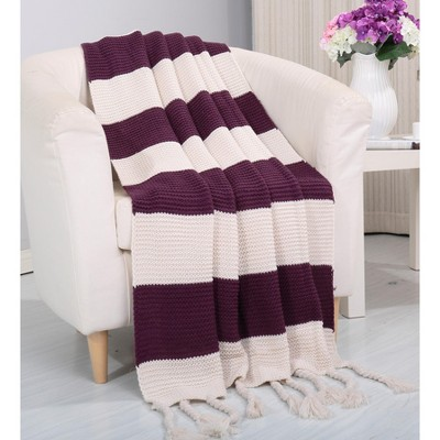 Luxurious Classic Knitted Throw Blanket, 50x60