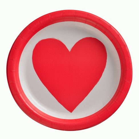 """20ct 8.5"""" Valentine's Dinner Plate With Heart - Spritz™ - image 1 of 1"""