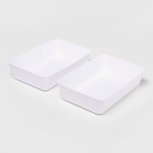 2pk Large Storage Trays White - Room Essentials™ - image 1 of 2