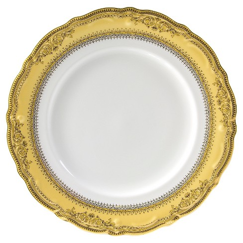 "Ten Strawberry Street Vanessa Gold Dinner Plate 10.75""x10.75"" Set of 6 - image 1 of 2"