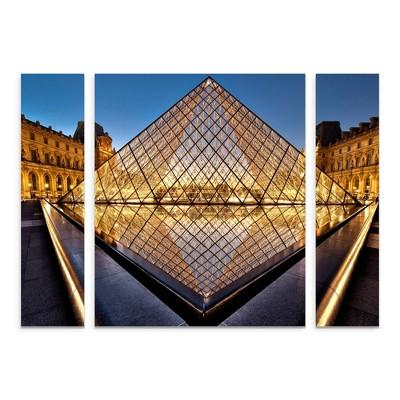 27 x33.5  Marc Pelissier 'The Diamond' Multi Panel Decorative Wall Art set - Trademark Fine Art