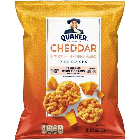 Quaker Popped Cheddar Cheese Rice Crisps - 6.06oz - image 1 of 3