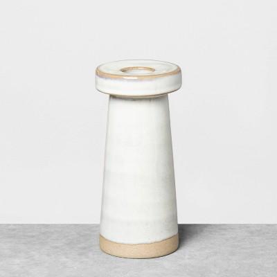 "5.5"" Medium Stoneware Taper Candle Holder - Hearth & Hand™ with Magnolia"
