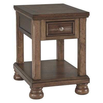 Flynnter Chair Side End Table Medium Brown - Signature Design by Ashley