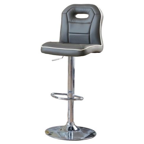 Tyler Sporty Adjustable Swivel Bar Stool - Furniture of America - image 1 of 3