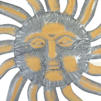 "Home & Garden 36.0"" Sun Face Yard Decor Stars Direct Designs International  -  Decorative Wall Sculptures"