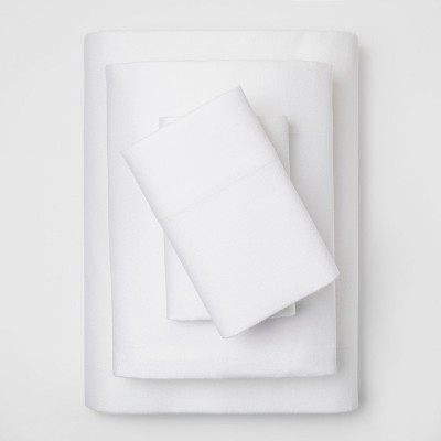 King Fall Flannel Sheet Set True White - Threshold™