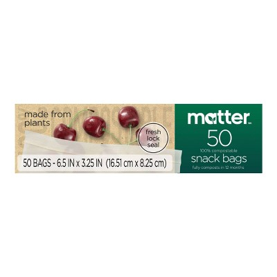 Matter 100% Compostable Snack Bags - 50ct