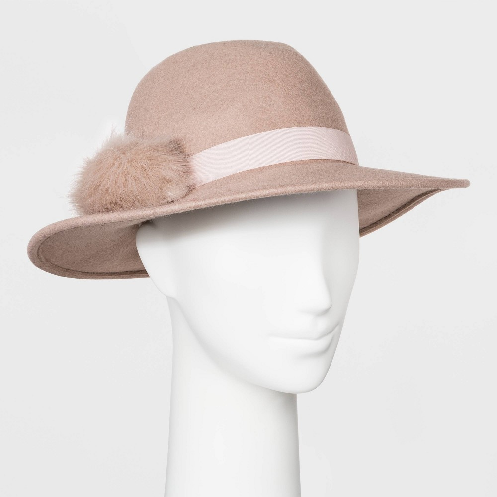 Women's Vintage Hats | Old Fashioned Hats | Retro Hats Womens Felt Fedora Hat - A New Day Blush Womens Size Small Pink $19.99 AT vintagedancer.com