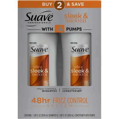 Suave Professionals Sleek Shampoo and Conditioner - 50 fl oz