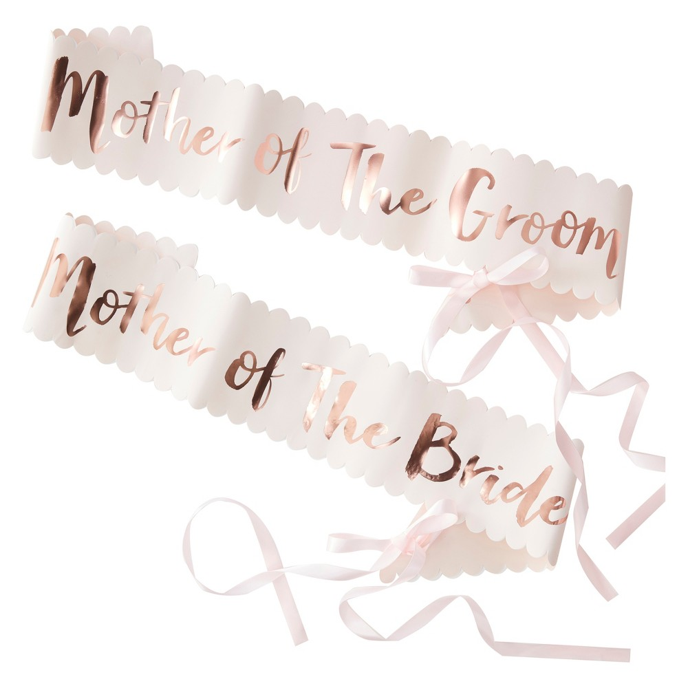 2ct Ginger Ray Pink And Rose Gold Foiled Mother Of The Bride Groom Sashes 2pk Team Bride, Women's, Size: Large