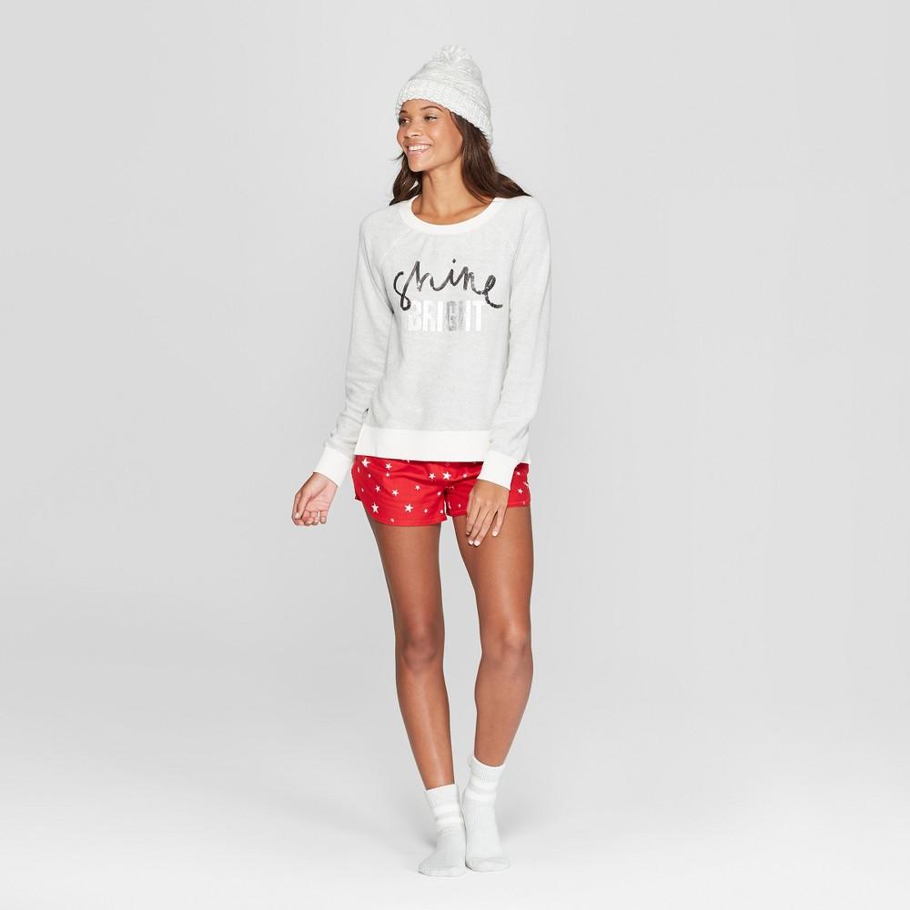 Women's Shine Bright 4pc Pajama Set - Xhilaration White S