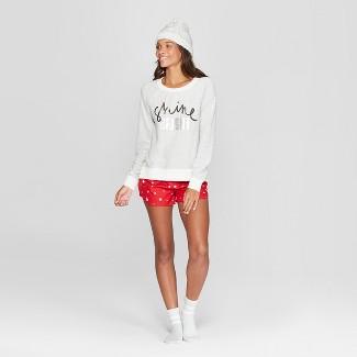 Women's Shine Bright 4pc Pajama Set - Xhilaration™ White M