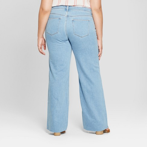 78bb2be89e Women s Plus Size Wide Leg Jeans - Universal Thread™ Light Wash 18W   Target