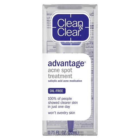 Clean & Clear Advantage Spot Treatment with Witch Hazel - .75 fl oz - image 1 of 3