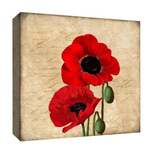 """Vivid Red II Decorative Canvas Wall Art 16""""x16"""" - PTM Images - image 1 of 1"""