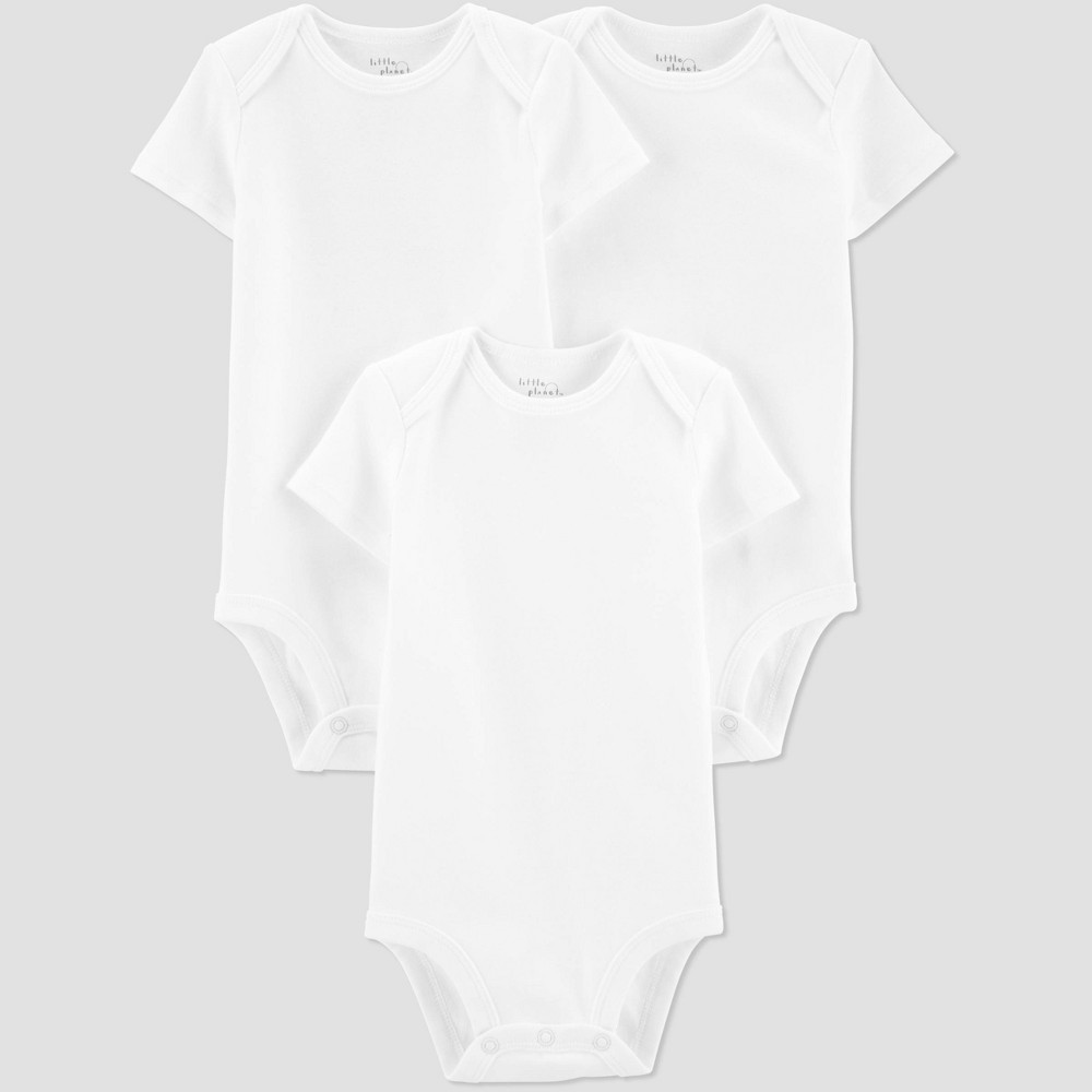 Image of Baby 3pk Bodysuit - little planet organic by carter's Ember White 12M, Kids Unisex