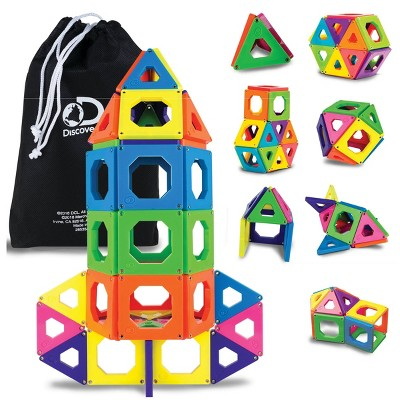 Discovery Kids Toy Magnetic Tiles Building Set 50pc