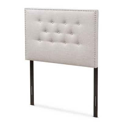 Windsor Modern and Contemporary Fabric Upholstered Headboard Beige - Baxton Studio