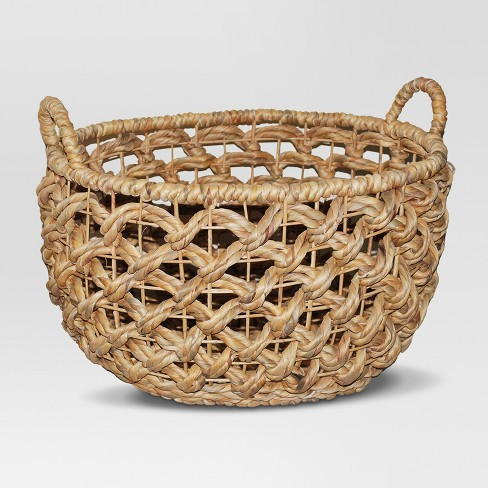 Oval Open Weave Basket - Brown - Threshold™ - image 1 of 2