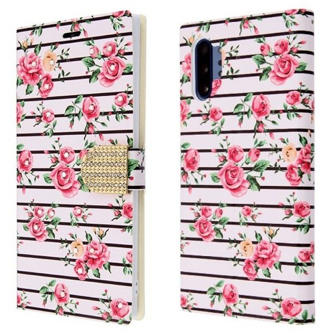 For Samsung Galaxy Note 10 Plus Pink Fresh Roses MyJacket Leather Case w/stand - image 1 of 3