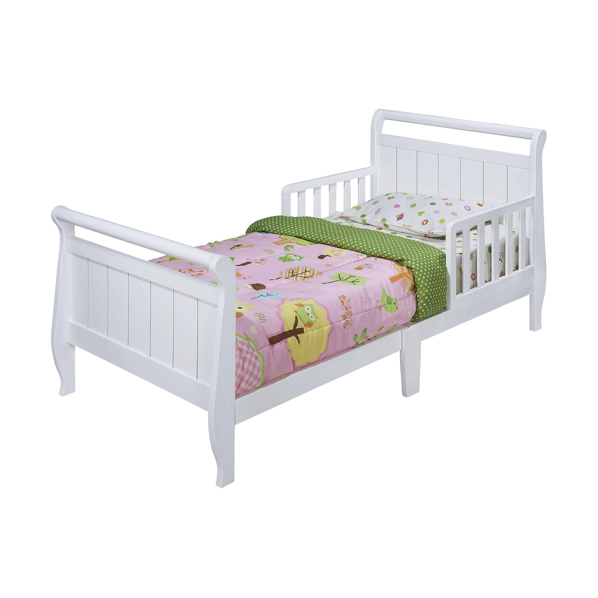 Sleigh Toddler Bed White - Delta Children