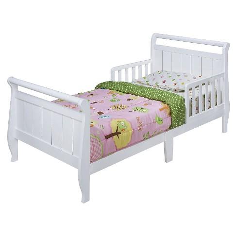 Sleigh Toddler Bed White   Delta Children : Target