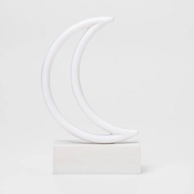 Moon Mini LED Table Lamp Yellow - West & Arrow