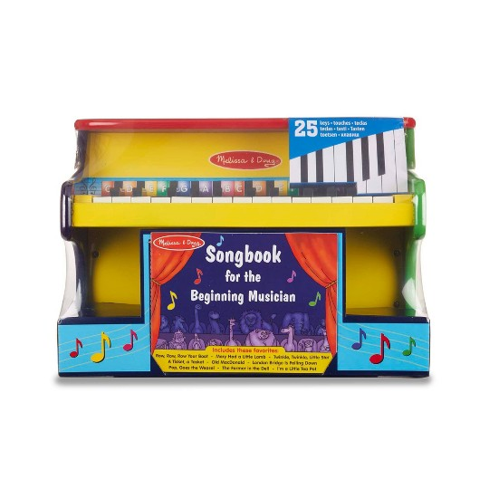 Melissa Doug Learn To Play Piano With 25 Keys And Color Coded Songbook