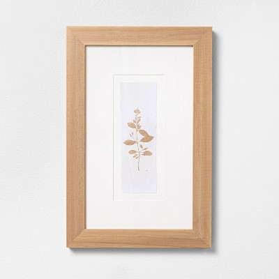 "12"" x 18"" Wood Framed Botanical Stem Wall Art - Hearth & Hand™ with Magnolia"