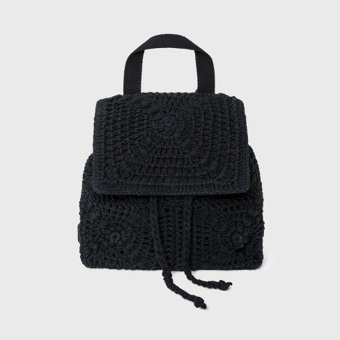 Floral Crocheted Mini Backpack - Wild Fable™ - image 1 of 4