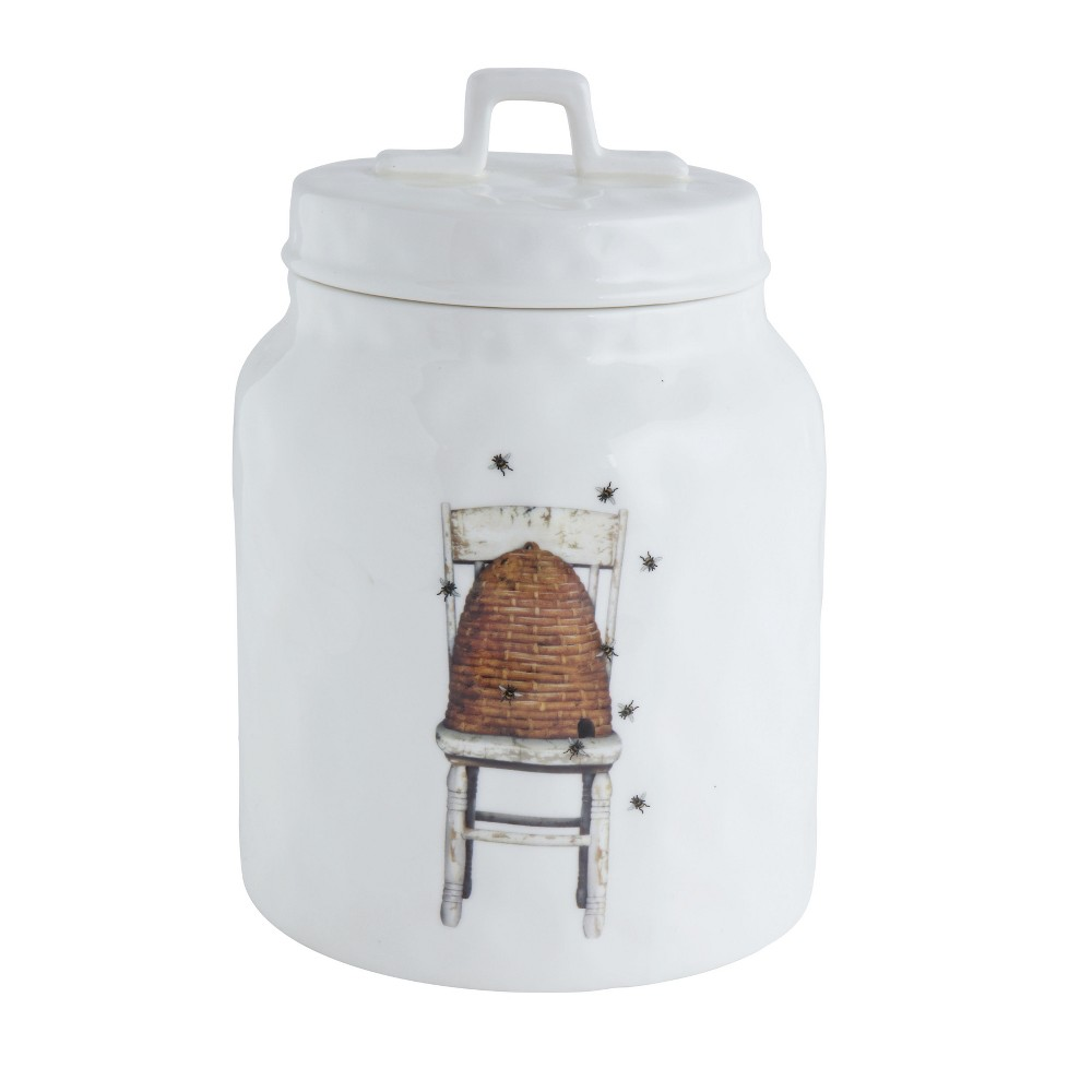 """Image of """"10.2"""""""" x 7"""""""" Beehive Canister White - 3R Studios"""""""