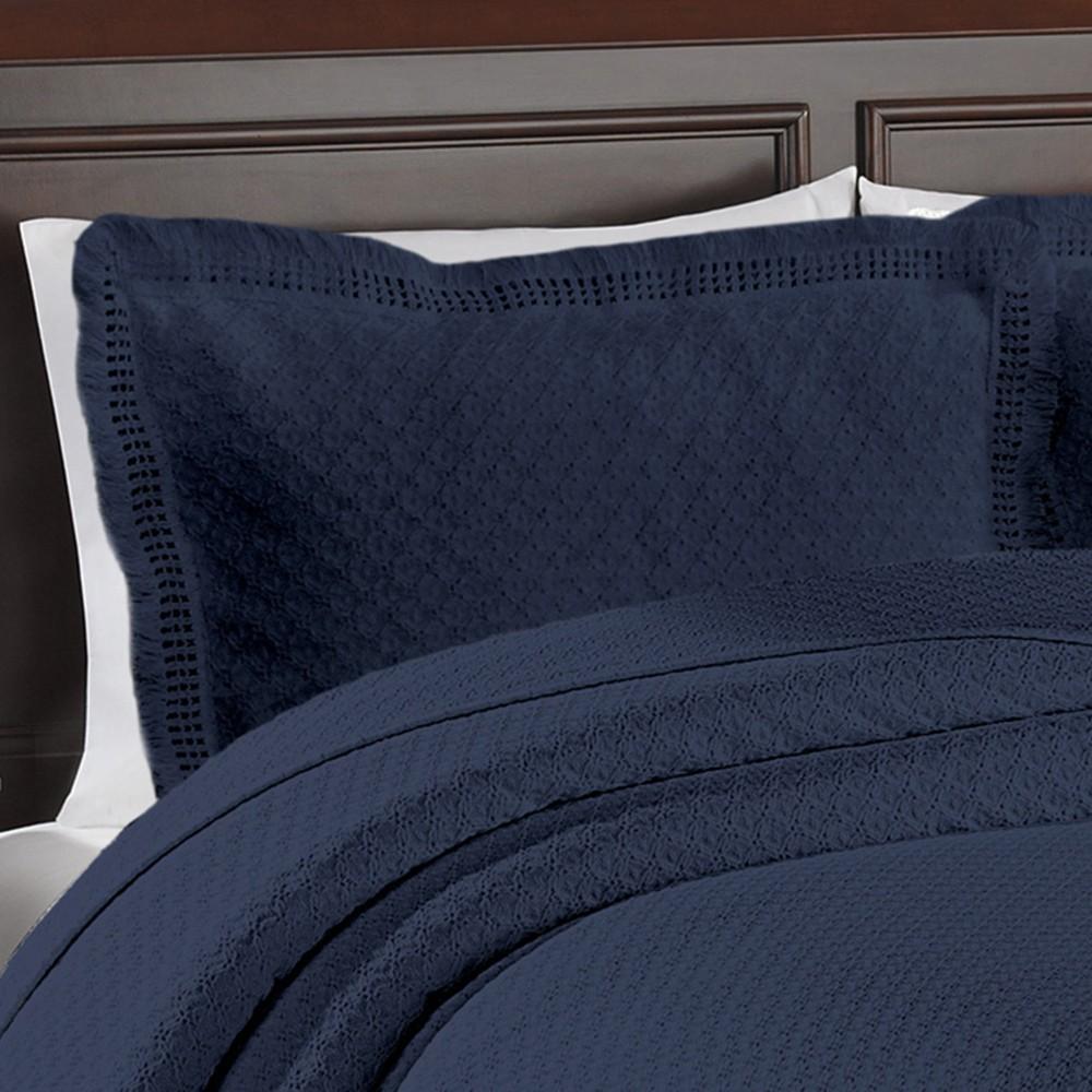 LaMont Home Woven Jacquard Sham - Blue (Standard Sham)